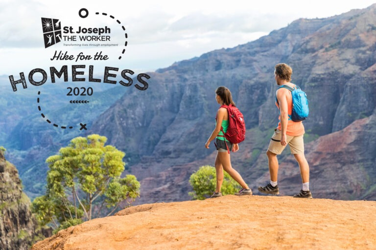 Male and female hikers_with 2020 logo