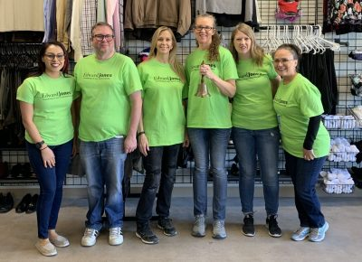 Volunteers At The Clothing Center